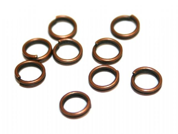 Brass plated closed rings, jump rings, split rings